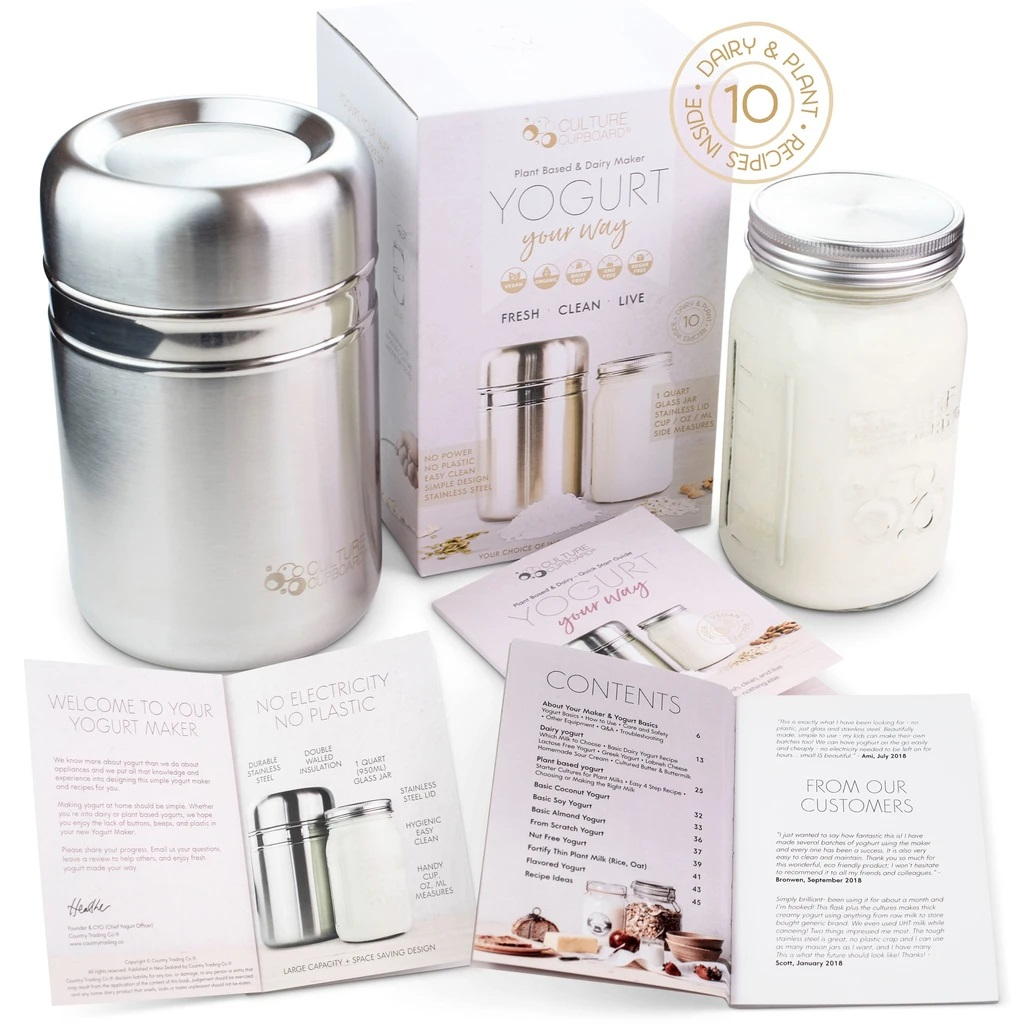 Country Trading Co Stainless Steel Yogurt Maker