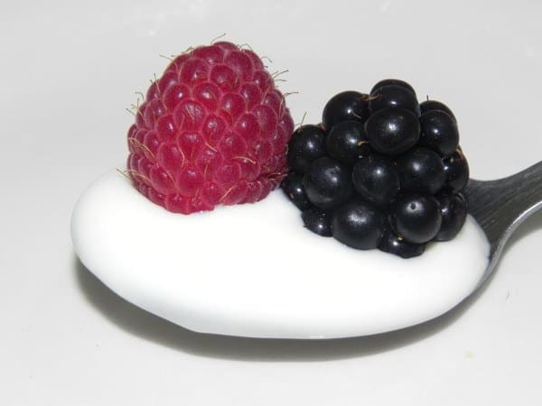 Fresh Berries in Yogurt