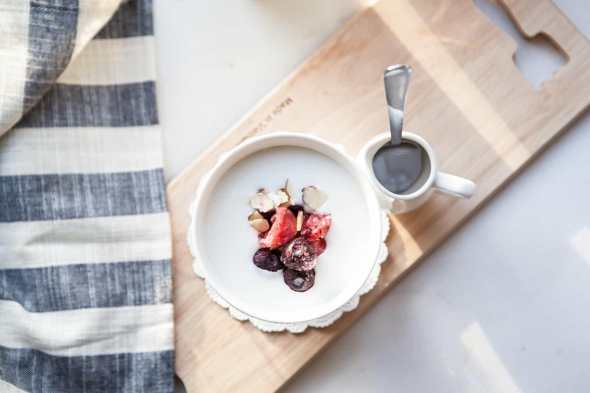 Yogurt on a Breakfast Tray
